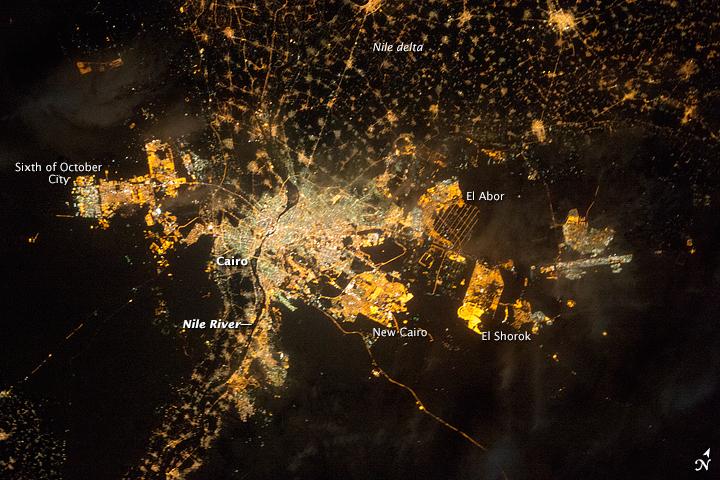 Le Caire et ses villes nouvelles, Earth Observatory (2014)